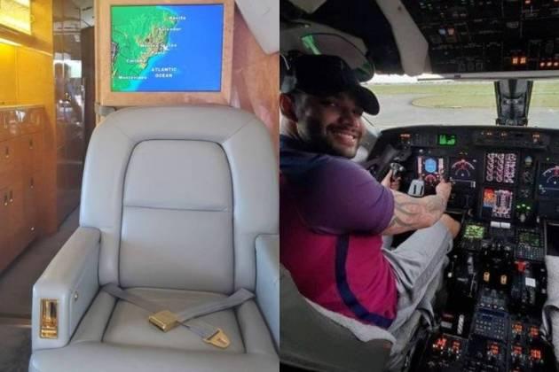 Avião do sertanejo - Reprodução: Facebook