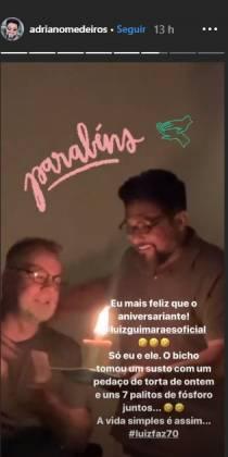 Adriano medeiros e Luiz Fernando Guimarães reprodução Instagram