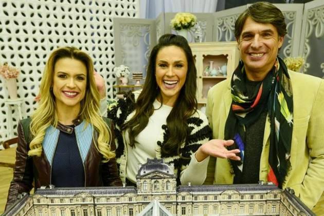 Bake Off - Beca, Nadja e Olivier (Zé Paulo Cardeal/SBT)