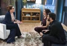 Bom Sucesso - Marisa Orth interpreta falsa terapeuta de casais contratada por Diogo (Globo/Cesar Alves)