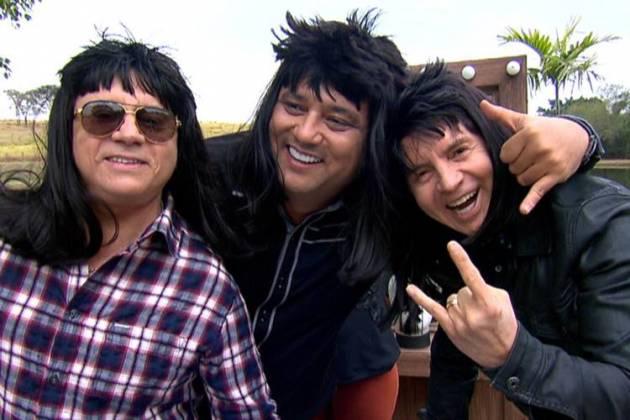 Chitãozinho e Xororó com Geraldo Luís (Divulgação/Record TV)