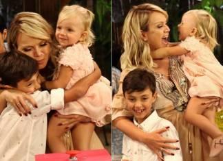 Eliana com Arthur e Manuela (Marcos Ribas/Brazil News)
