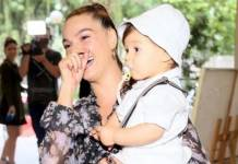Isis Valverde e filho e filho Rael / fotos Anderson Borde Agnews
