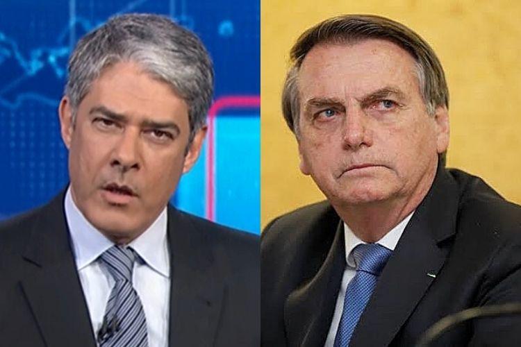 Bolsonaro expõe salário de William Bonner, o acusa de sonegar imposto e volta a atacar Globo
