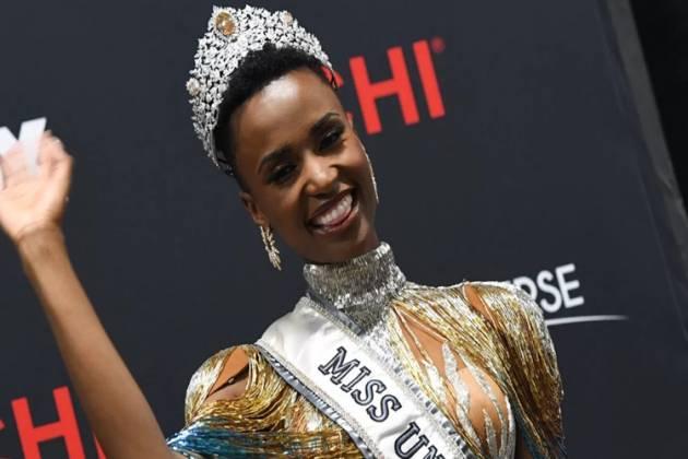 A Miss Universo 2019 Zozibini Tunzi, da África do Sul Foto Valerie Macon AFP Photo