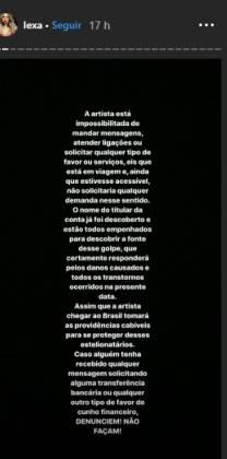 funkeira lexa/ Reprodução Instagram