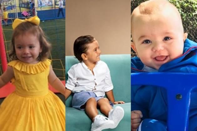 Jane , Pedro, Senor filhos de Patrícia Abravanel reprodução Instagram montagem Área Vip