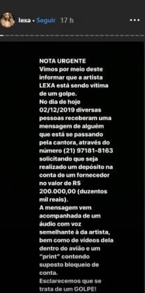 Funkeira Lexa / Reprodução Instagram