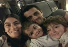 Marina Uhlmann Rodrigo Simas e Joaquim e Maria reprodução Instagram