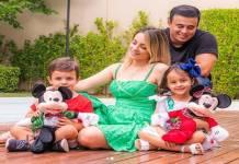 Sertanejo kauan, esposa Sarah e filhos bernardo e Shopia reprodução Instagram
