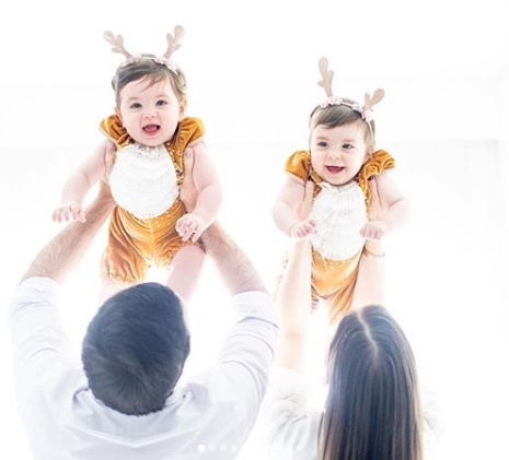 Siena e Chiara filhas de Fabiana Justus reprodução Instagram