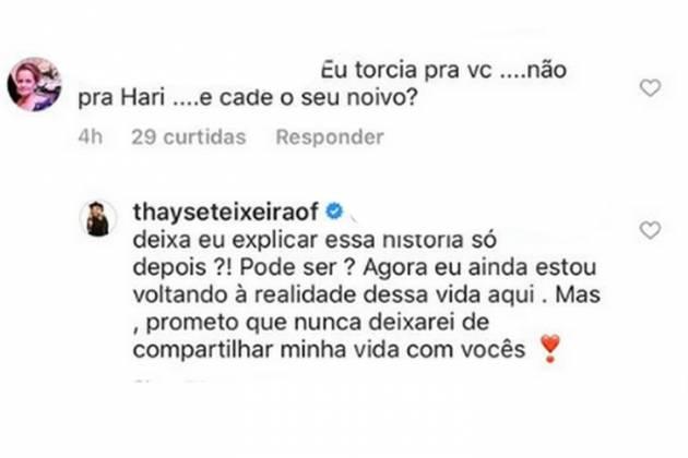 Thayse Teixeira - Reprodução/Instagram