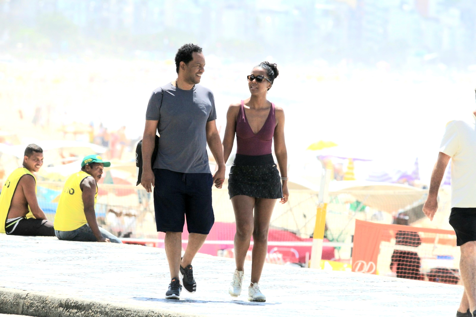 Maju Coutinho e o marido - Imagem: Anews