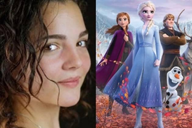 Andrea Arruti e divulgação do filme Frozen reprodução Instagram e Montagem Área Vip