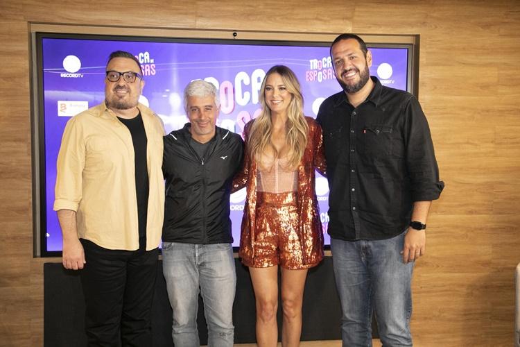 Coletiva Troca de Esposas (Edu Moraes/Record TV)