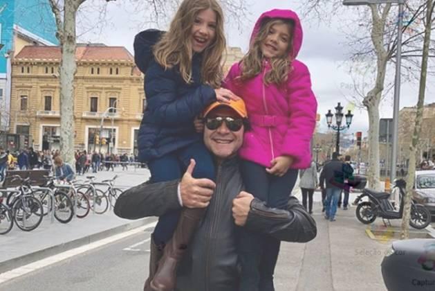 Daniel e as filhas Lara e Luiza reprodução Instagram
