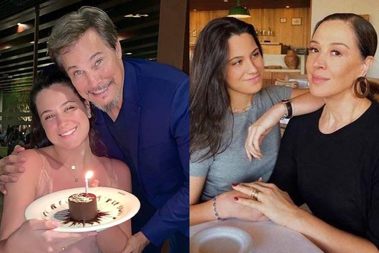 Edson Celulari e Claudia Raia parabenizam a filha, Sophia