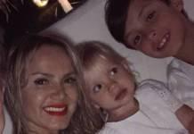 Eliana e os filhos