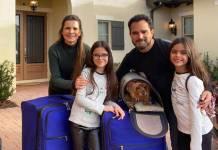 Luciano Camargo e a família