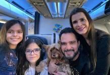 Luciano Camargo, Flávia e as filhas