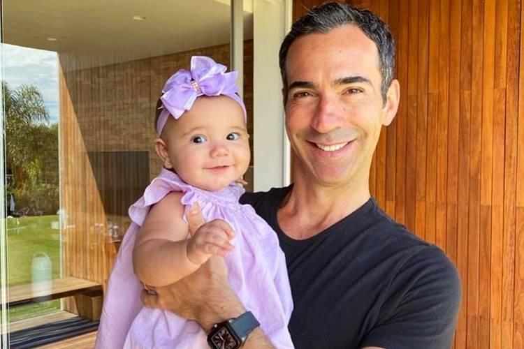 Cesar Tralli celebra aniversário de São Paulo ao lado da filha