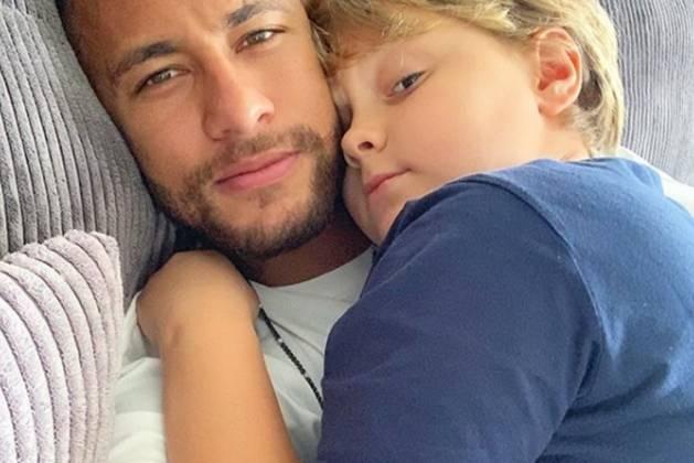 Neymar Jr e Davi Lucca reprodução Instagram