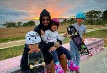 Pedro Scooby e os filhos