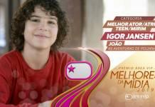 Prêmio Área VIP 2019 - Melhor Ator Mirim - Igor Jansen