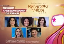 Prêmio Área VIP - Categoria Apresentadora de Jornal de 2019