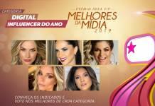 Prêmio Área VIP - Categoria Digital Influencer do Ano de 2019