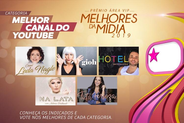 Prêmio Área VIP - Categoria Melhor Canal do Youtube de 2019