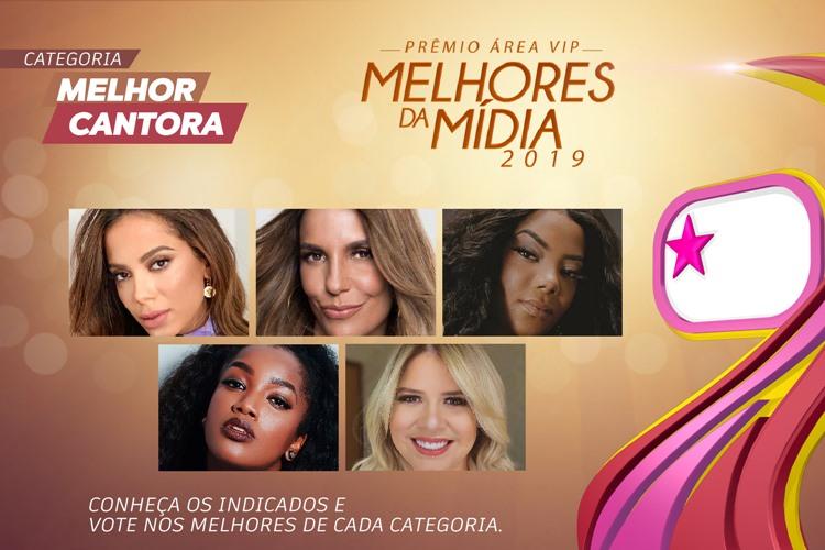 Prêmio Área VIP - Categoria Melhor Cantora de 2019