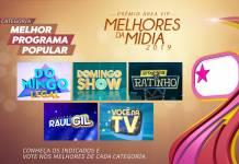 Prêmio Área VIP - Categoria Melhor Programa Popular de 2019