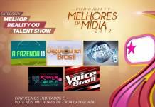Prêmio Área VIP - Categoria Melhor Reality Show de 2019