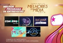 Prêmio Área VIP - Categoria Programa de Entrevistas de 2019