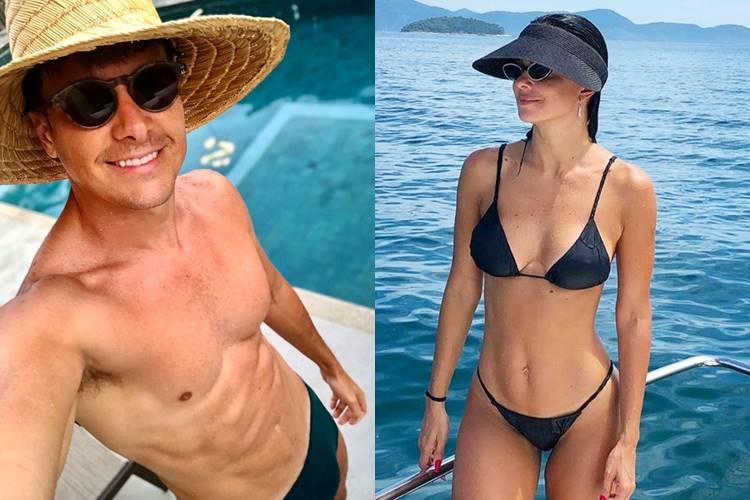 Rodrigo Faro curte viagem com a esposa em Angra dos Reis