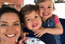 Thais Fersoza e os filhos