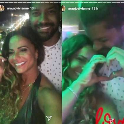 Viviane Araujo e o namorado Guilherme Militão reprodução Instagram Montagem Área Vip