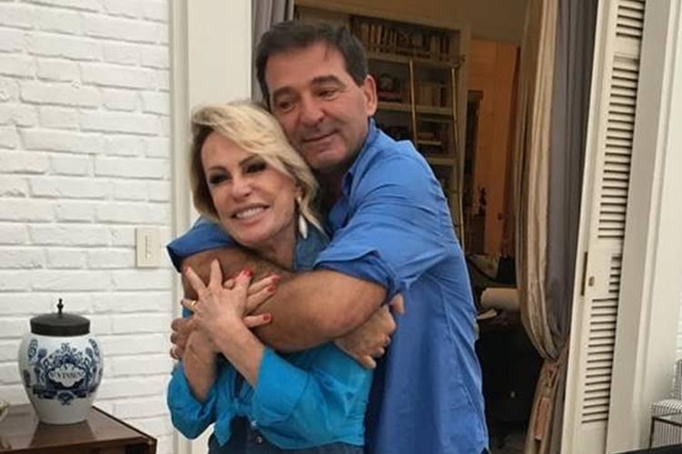 Ana Maria Braga e o marido, Johnny Lucet - Instagram
