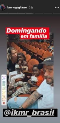 Bruno Gagliasso e família reprodução Instagram