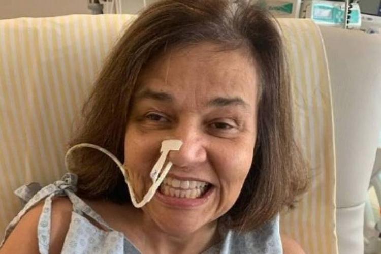 Claudia Rodrigues apresenta evolução em quadro de saúde e é transferida no hospital