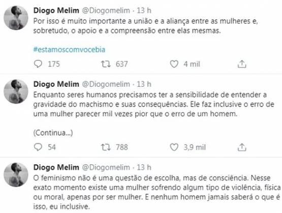 Diogo Melim reprodução Twitter
