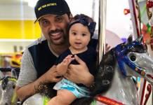 Edson Cadorini e filha Bella reproducção Instagram