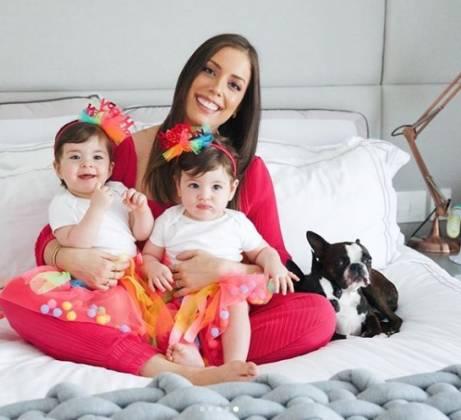 Fabiana Justus e filhas Chiara e Sienna reprodução Instagram
