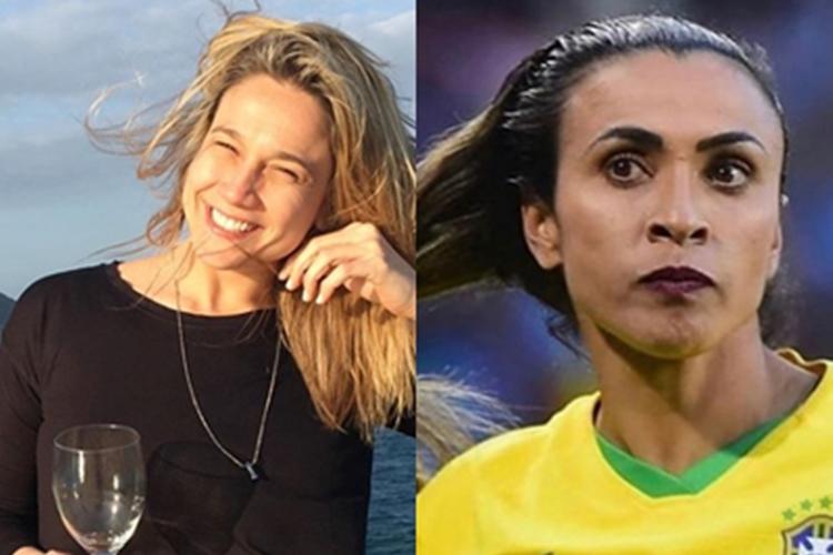Fernanda Gentil faz homenagem a jogadora Marta