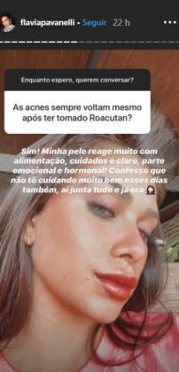 Flávia Pavanelli reprodução Stories Instagram