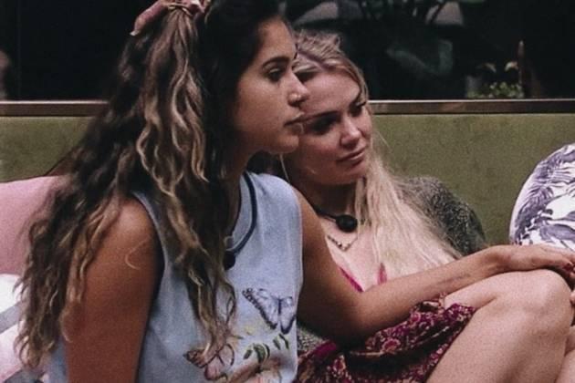 Giselly e a amiga Marcela reprodução TV Globo