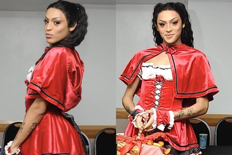 Pabllo Vittar surge vestida de Chapeuzinho Vermelho para Carnaval em São Paulo