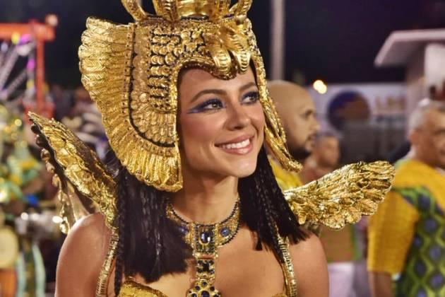 Paolla Oliveira - rainha de bateria na Grande Rio (Leo Franco / AgNews)