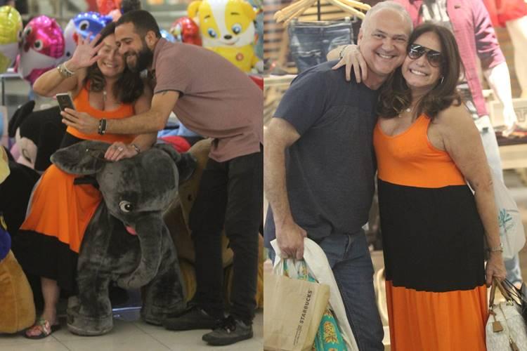 Susana Vieira esbanja simpatia e atende fãs no Rio